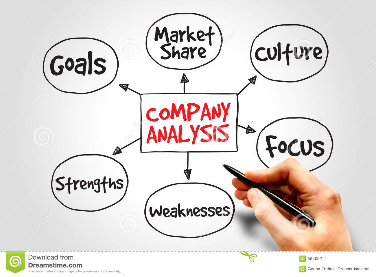 Company analysis stock illustration. Image of concept ...