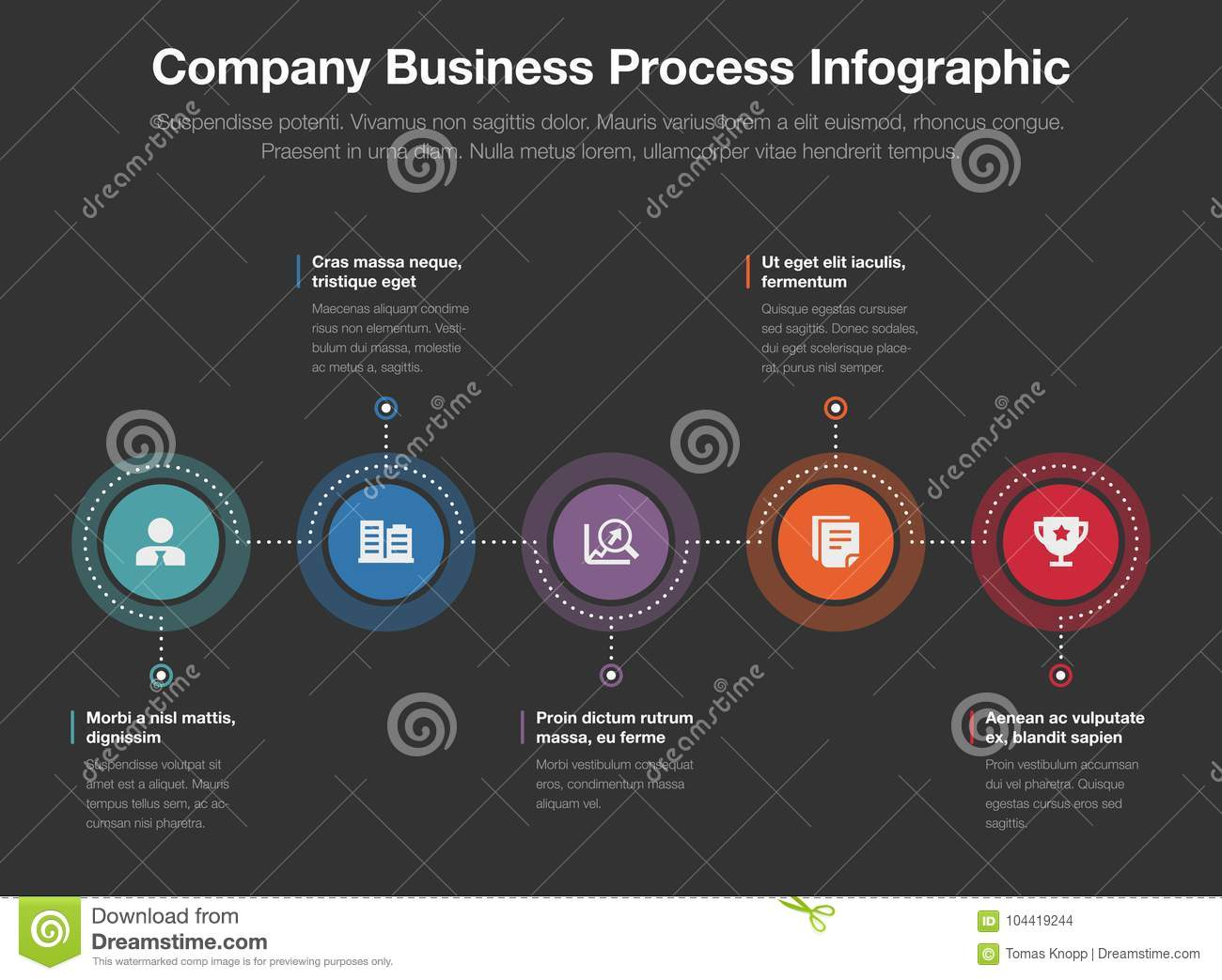 Company Business Process Infographic Template Stock Illustration