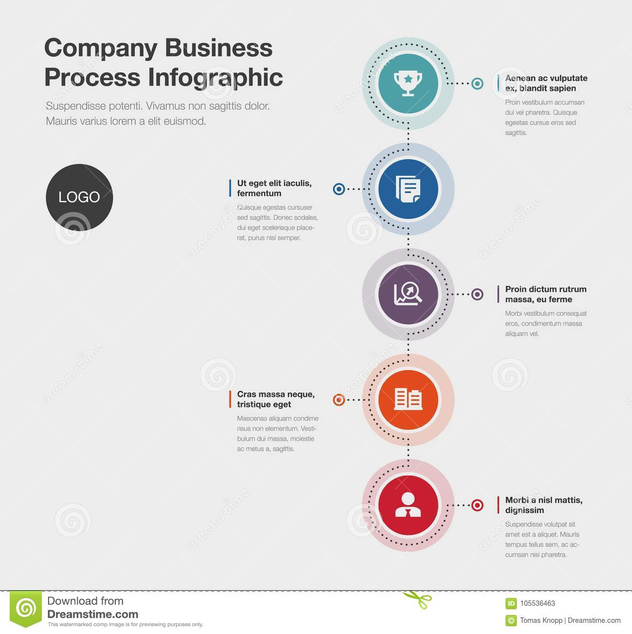 Company business process infographic template stock illustration download comp wajeb Image collections