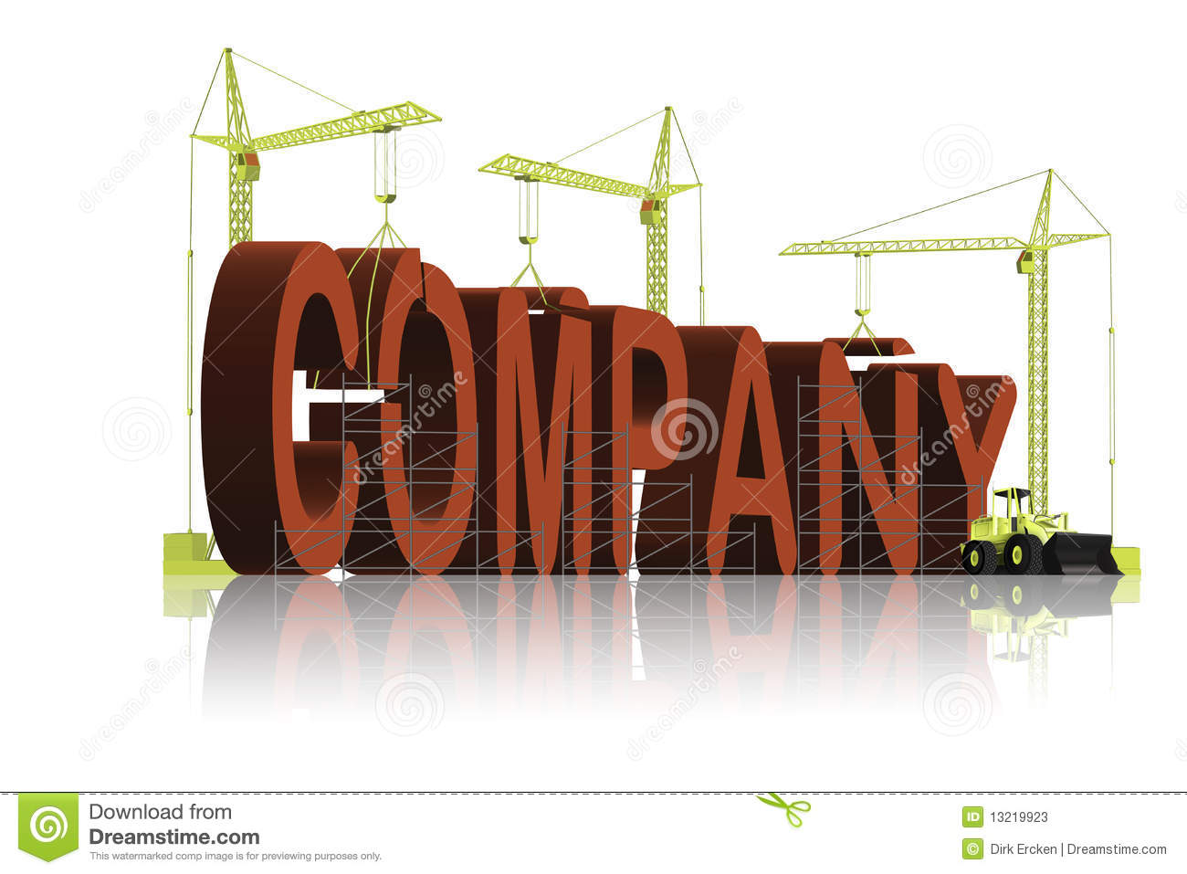Company business under construction