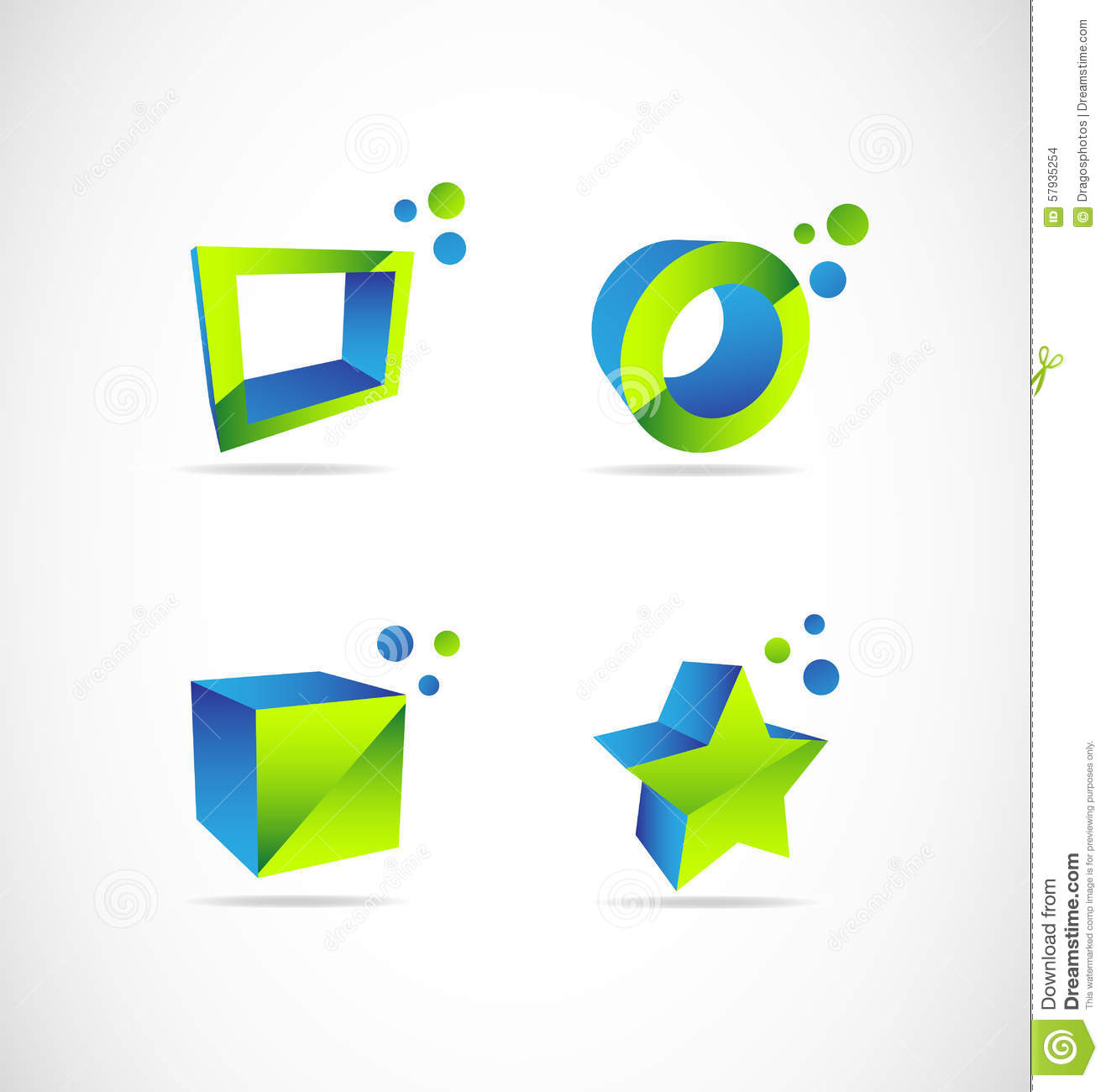 Company 3d logo stock vector. Image of advertising, shape ...