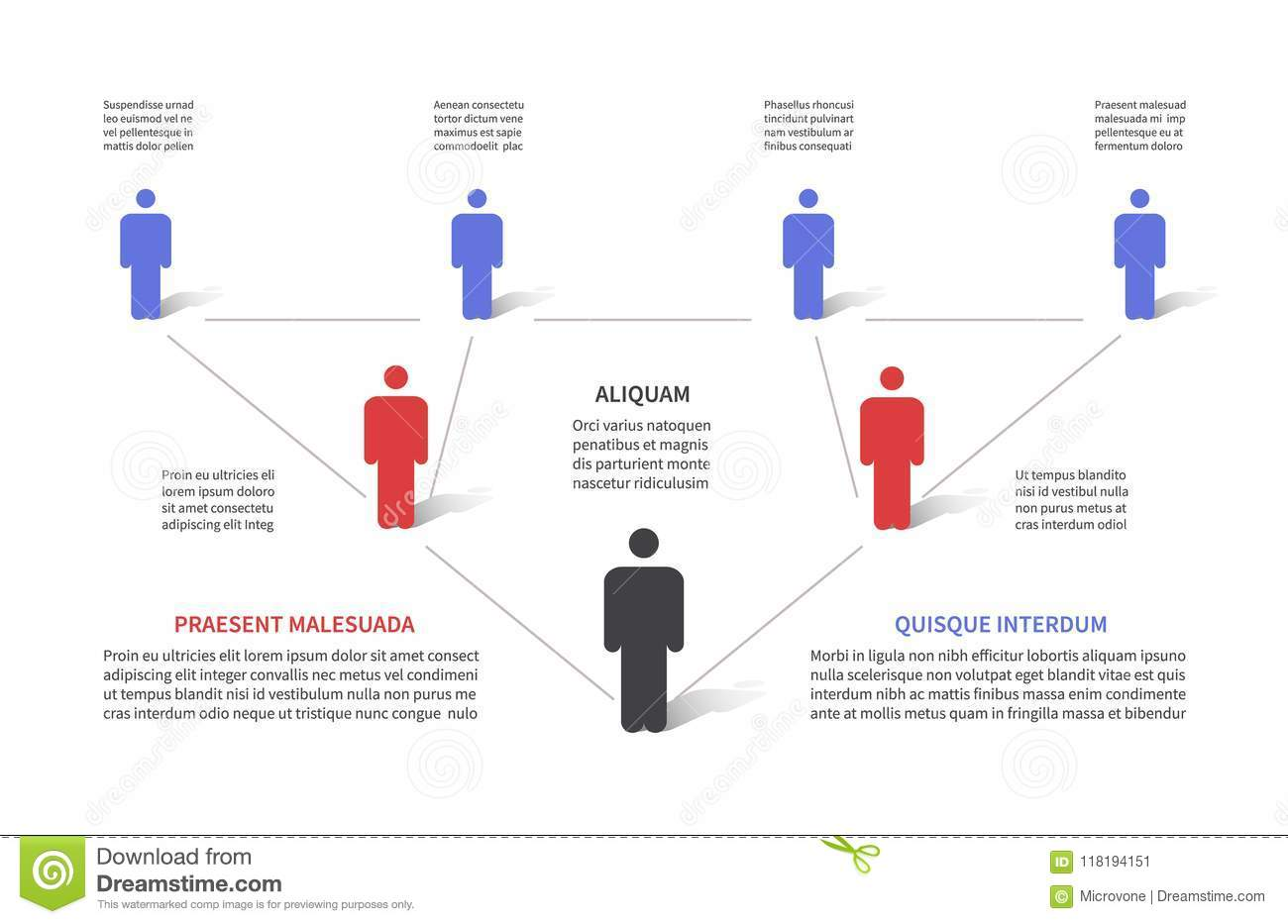 Company hierarchy 3d chart, business organization structure with people pictograms. Flowchart tree, workflow map vector