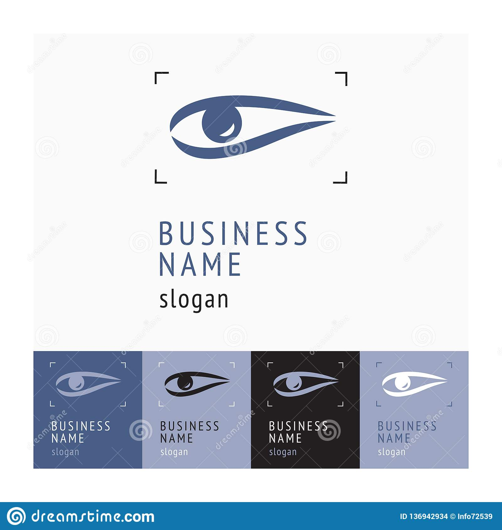 Company Logo With An Eye Icon  The Emblem Of The