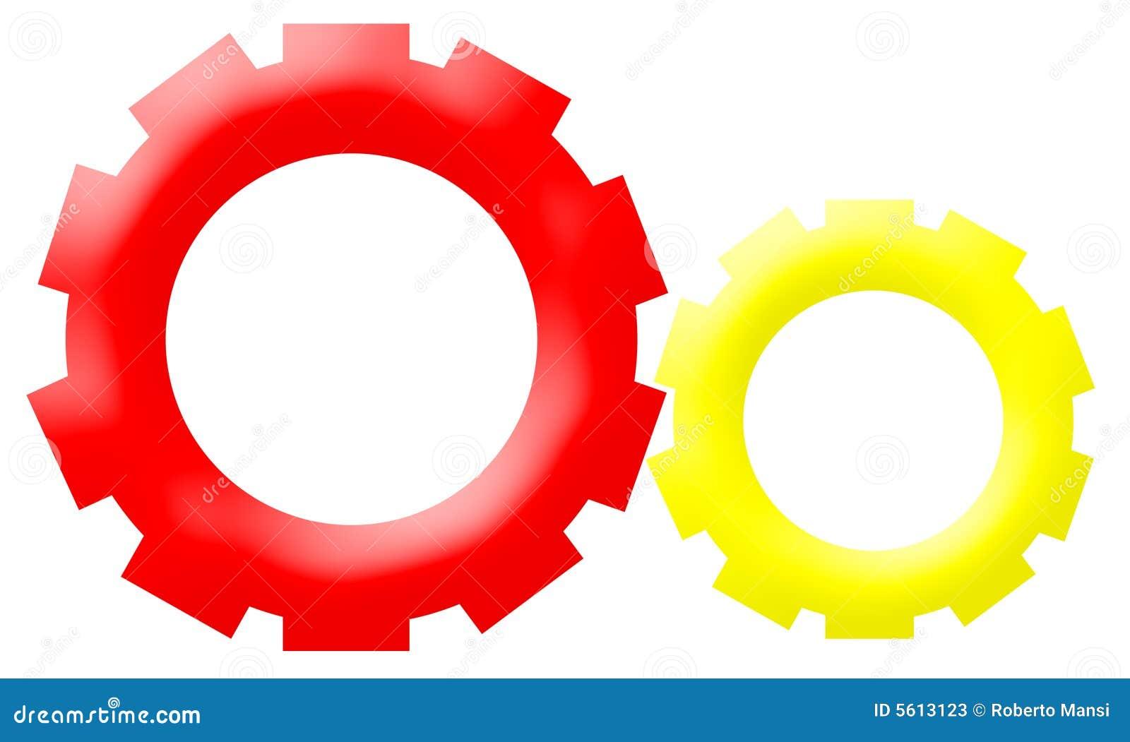 Company Logo - Mechanism Gear-Driven Wheels