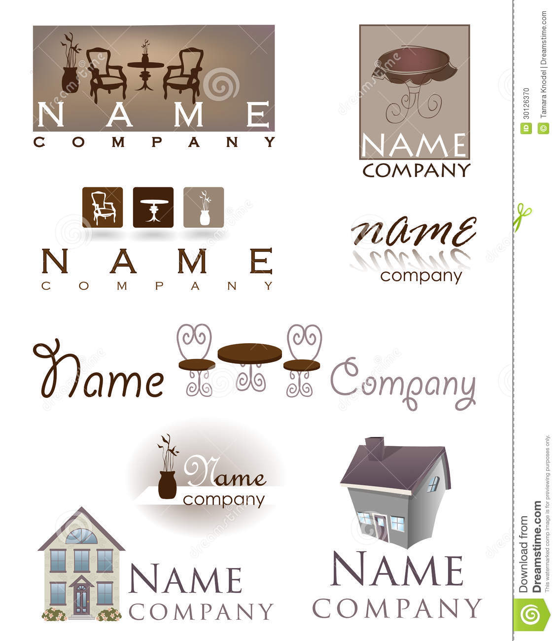 Home Design Furniture Logo Stock Photo Image 30126370