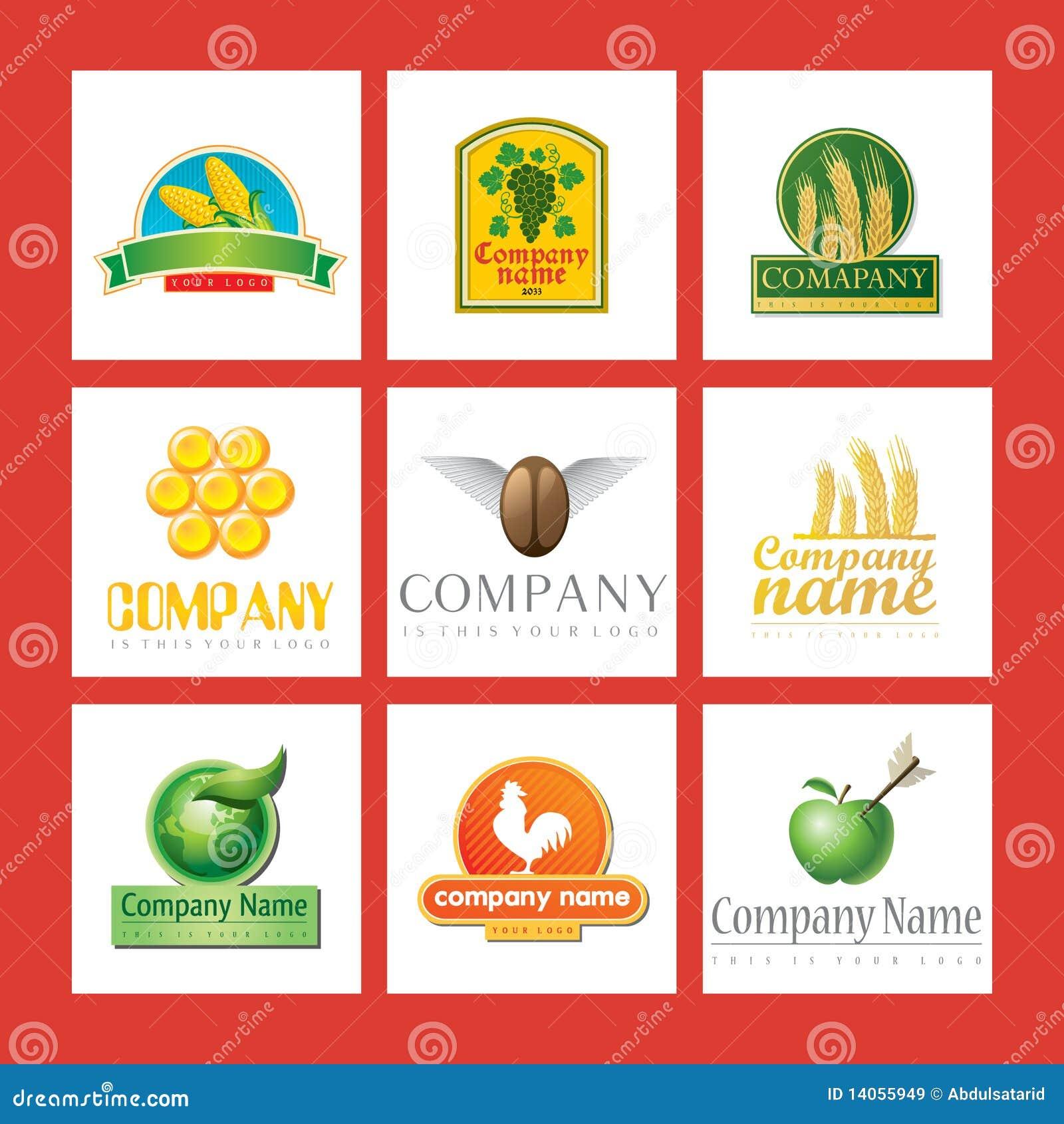 Company logos with food