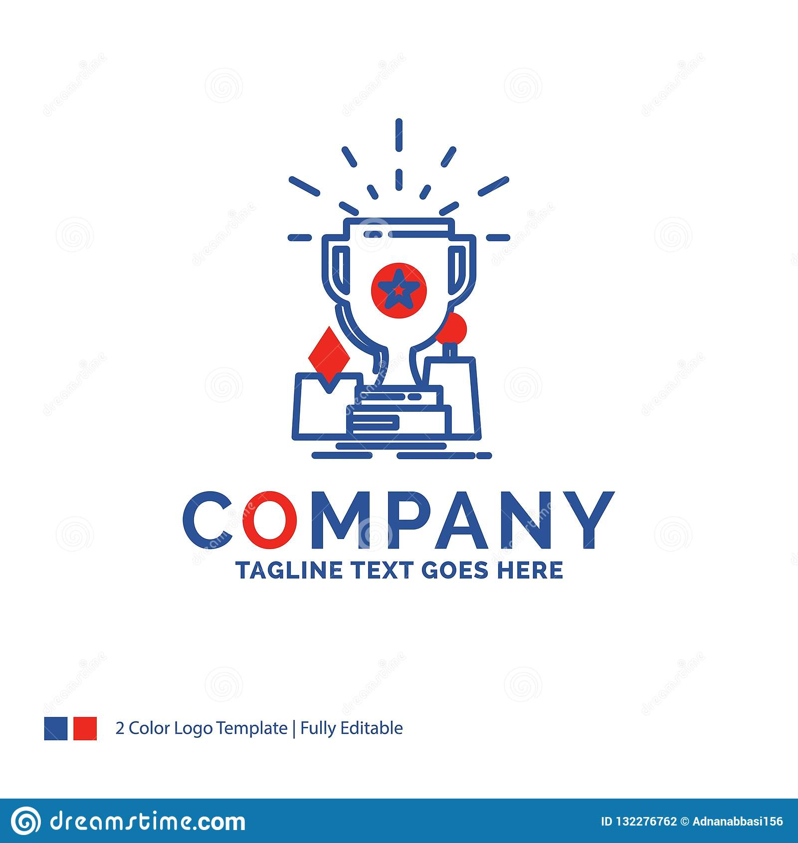 Company Name Logo Design For Achievement, Award, Cup