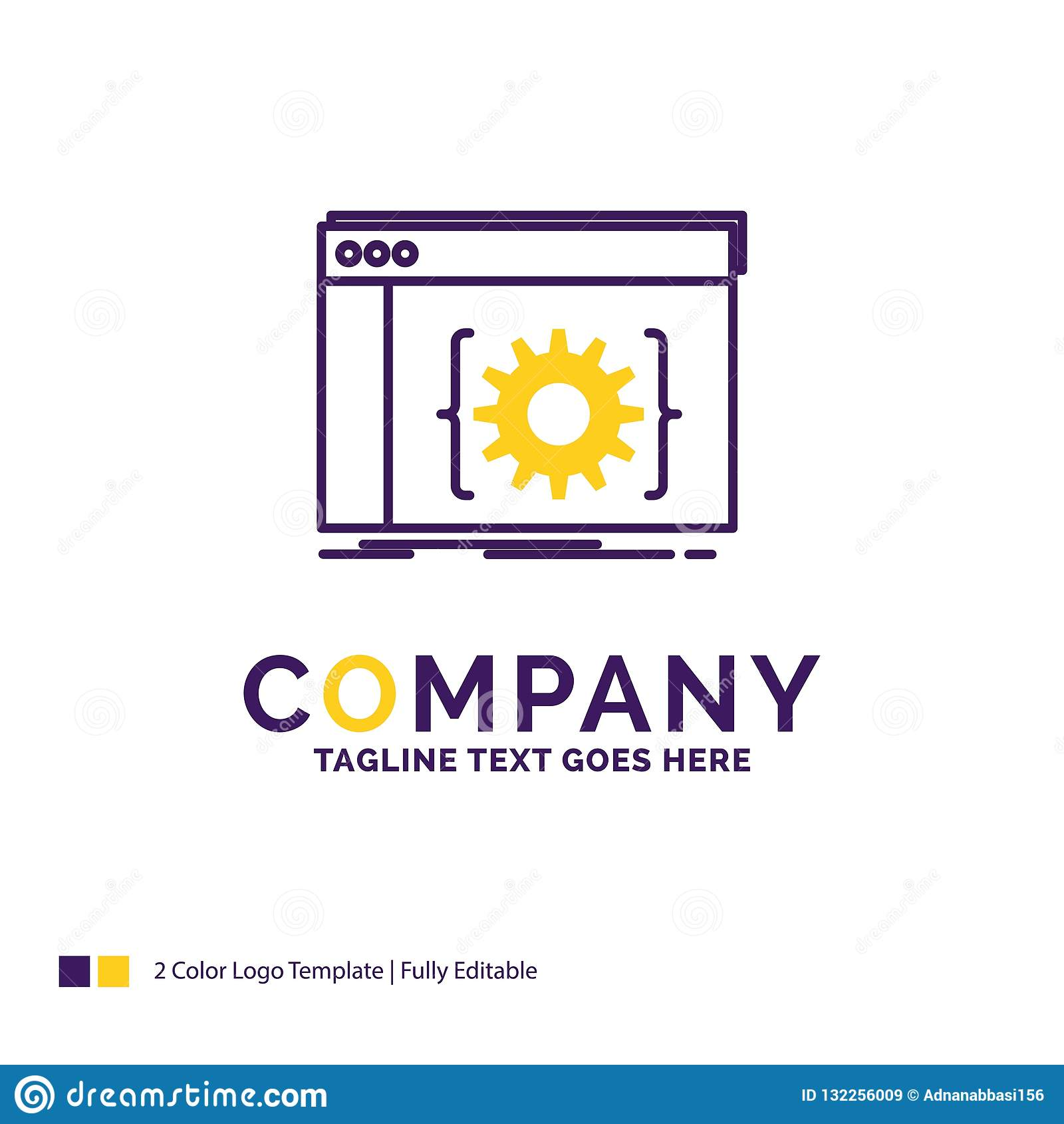 Company Name Logo Design For Api App Coding Developer Softwa Stock Vector Illustration Of Business Platform 132256009