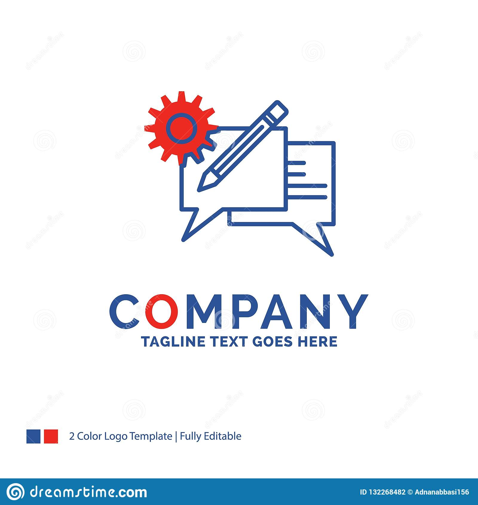 Company Name Logo Design For Chat, Communication