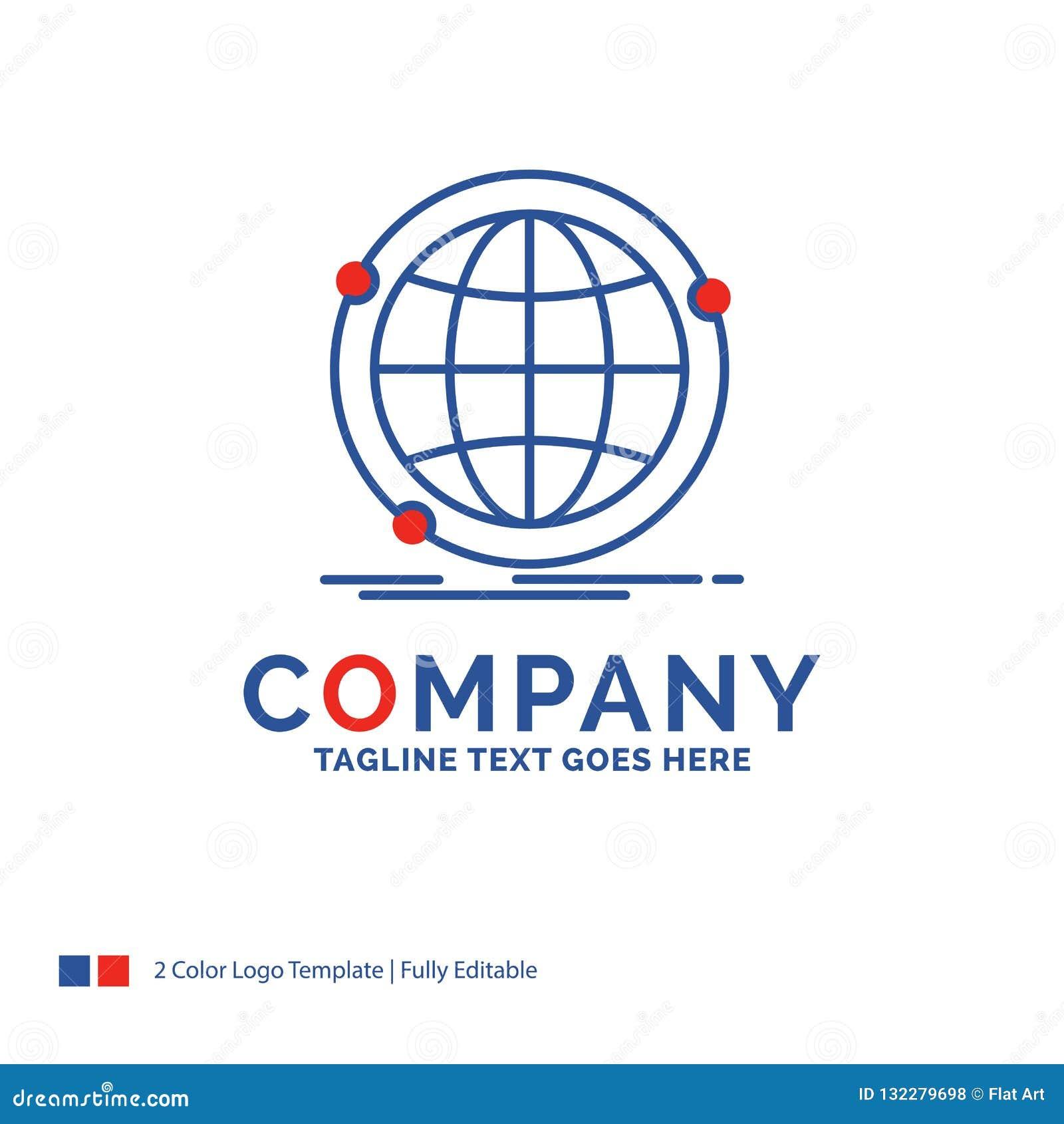 Company Name Logo Design For Data, Global, Internet
