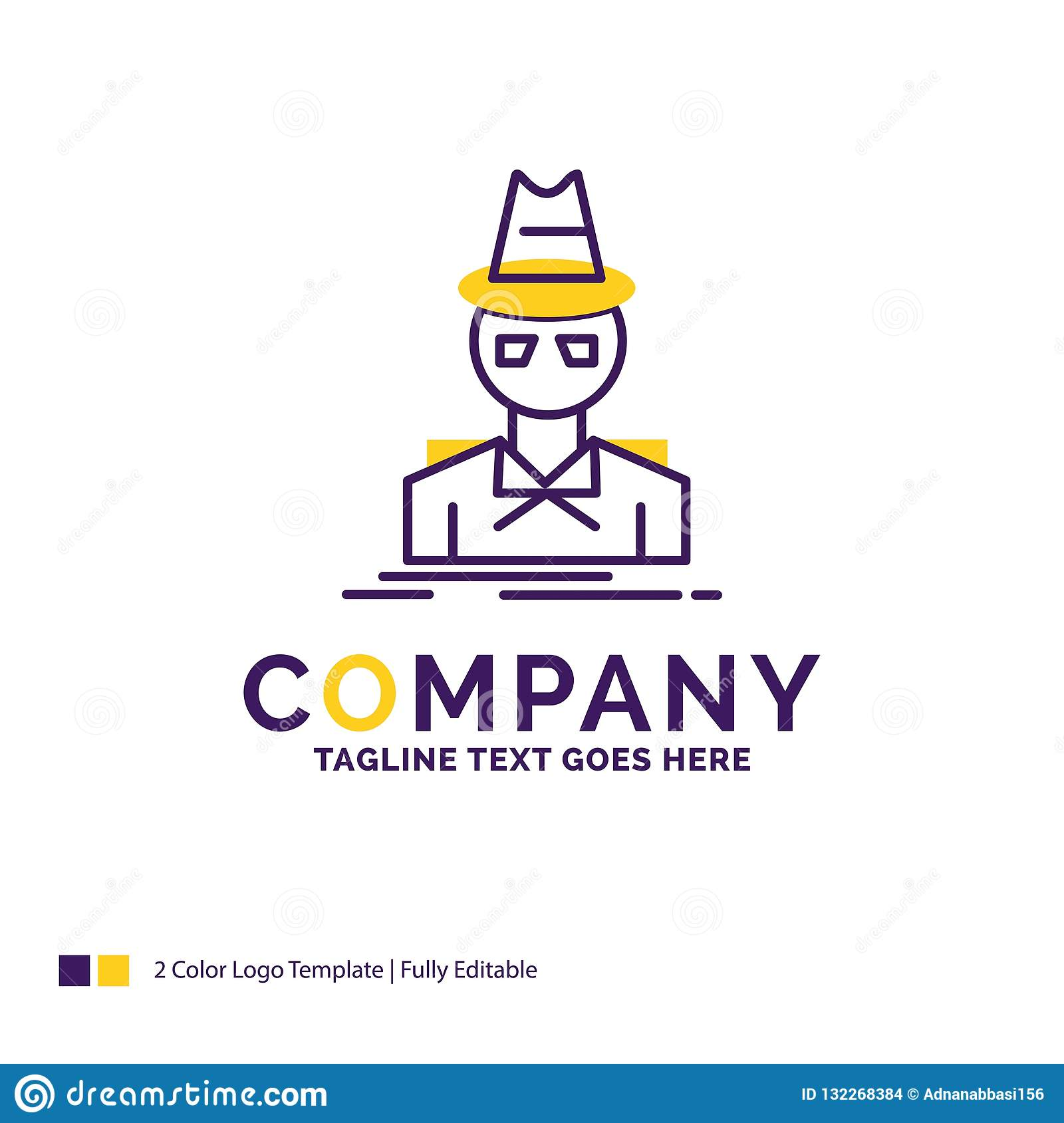 a9e31e44 Company Name Logo Design For Detective, Hacker, Incognito, Spy Stock ...