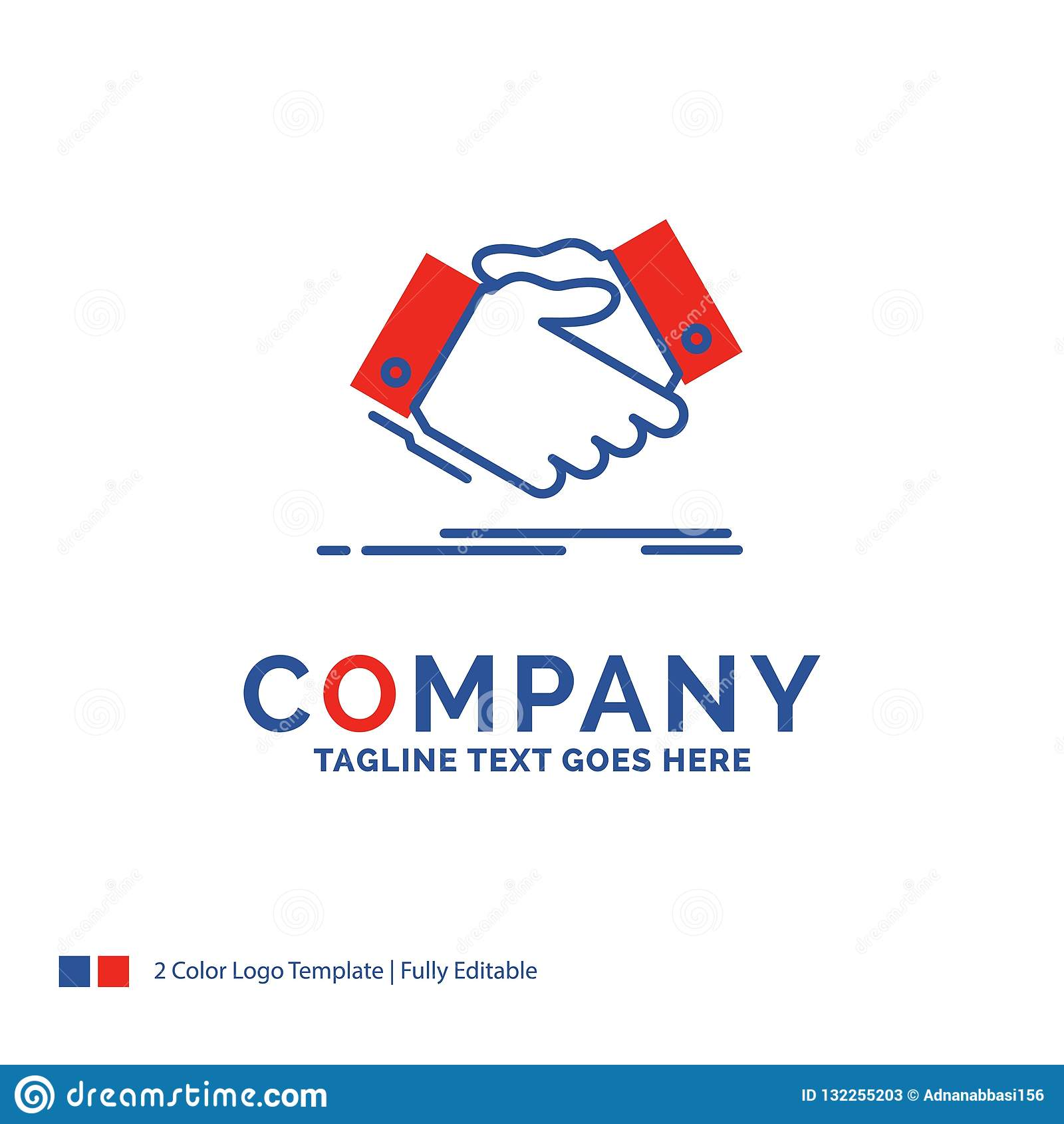 Company Name Logo Design For handshake, hand shake, shaking hand