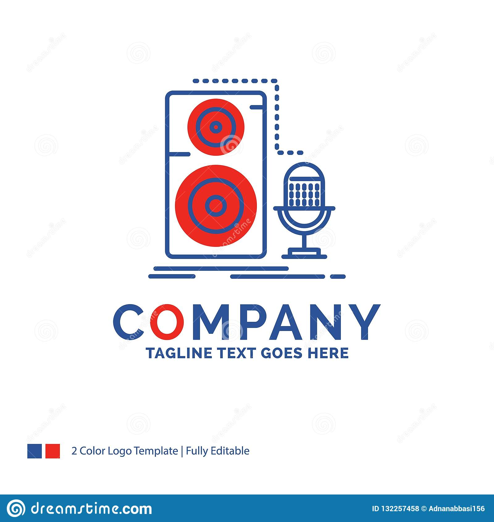 Company Name Logo Design For Live, Mic, Microphone, Record
