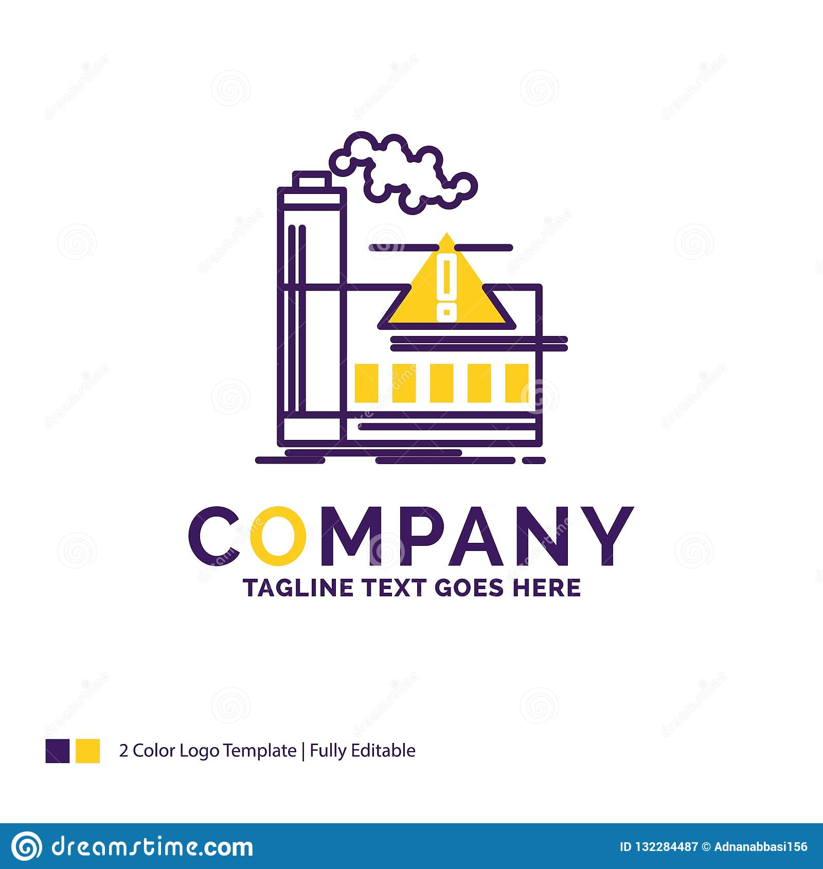 Company Name Logo Design For pollution, Factory, Air, Alert, ind