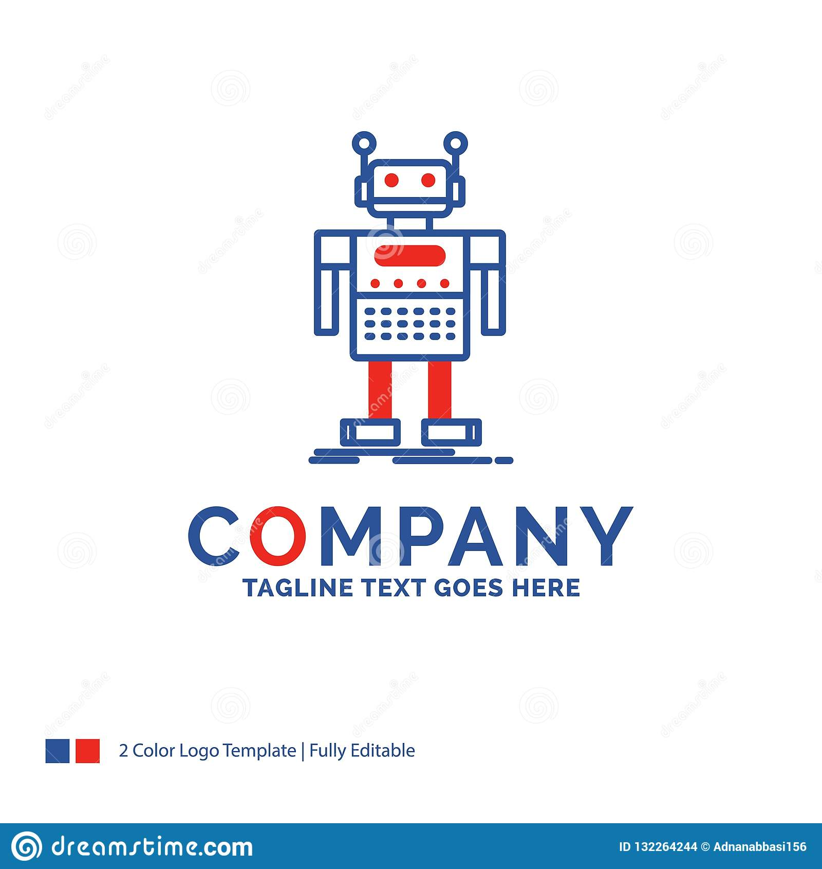 Company Name Logo Design For robot, Android, artificial, bot, te