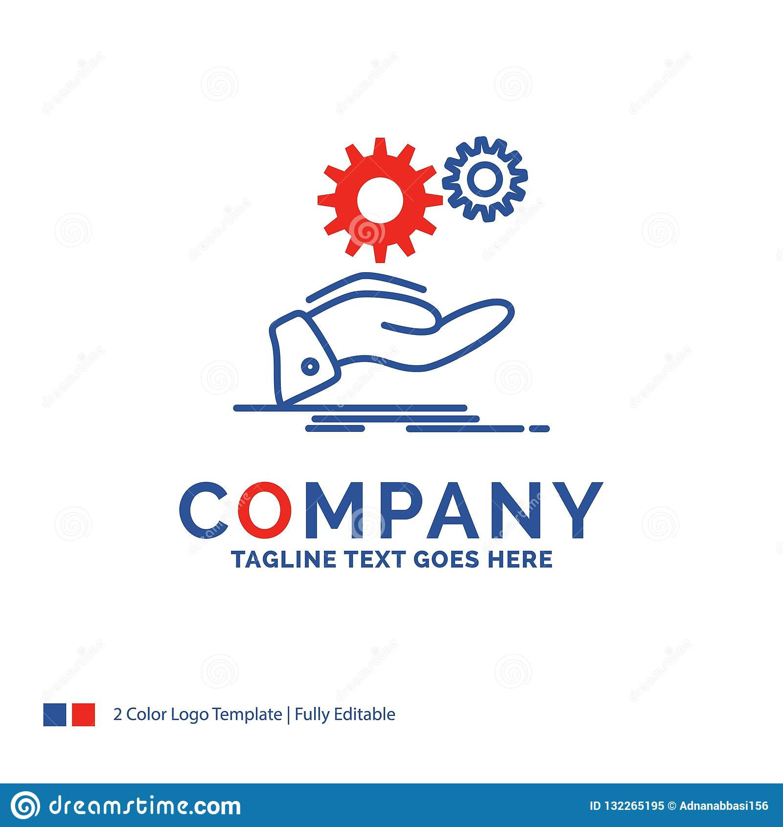 Company Name Logo Design For Solution, Hand, Idea, Gear ...