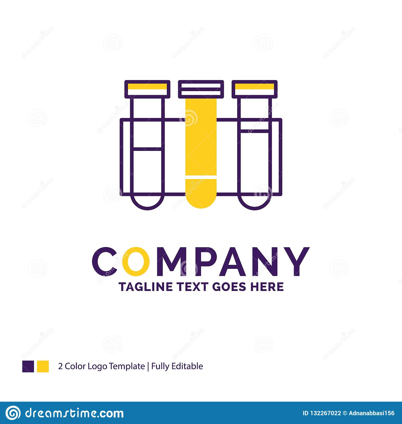 Company Name Logo Design For Test, Tube, Science, laboratory, bl