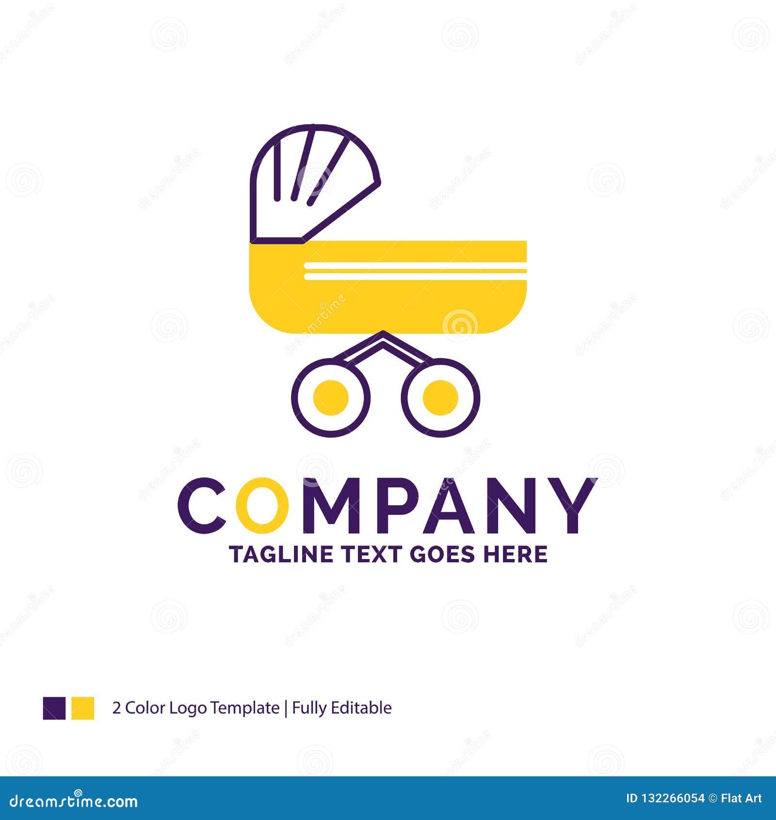 Company Name Logo Design For trolly, baby, kids, push, stroller