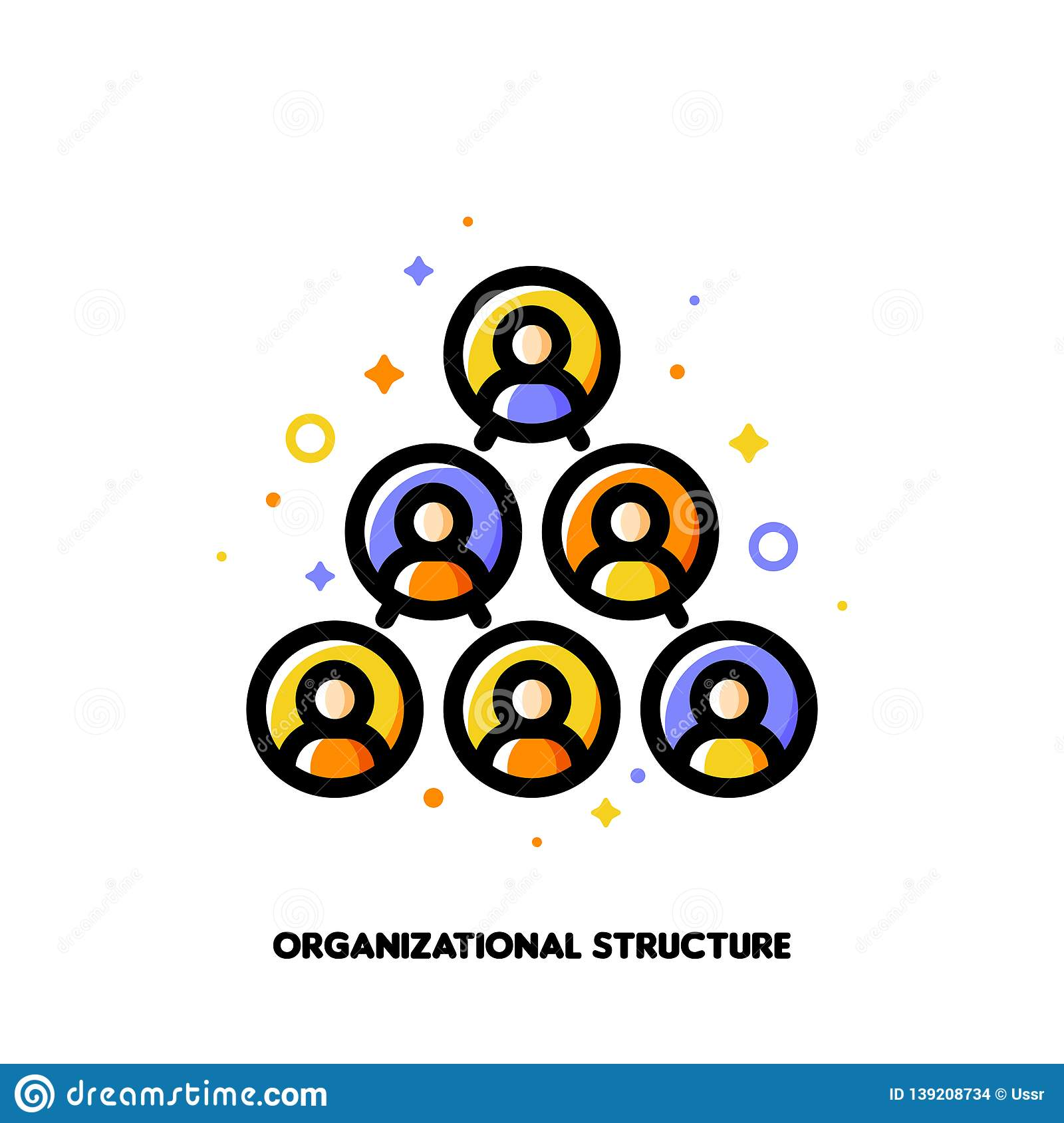Company Organizational Structure Icon For Corporate