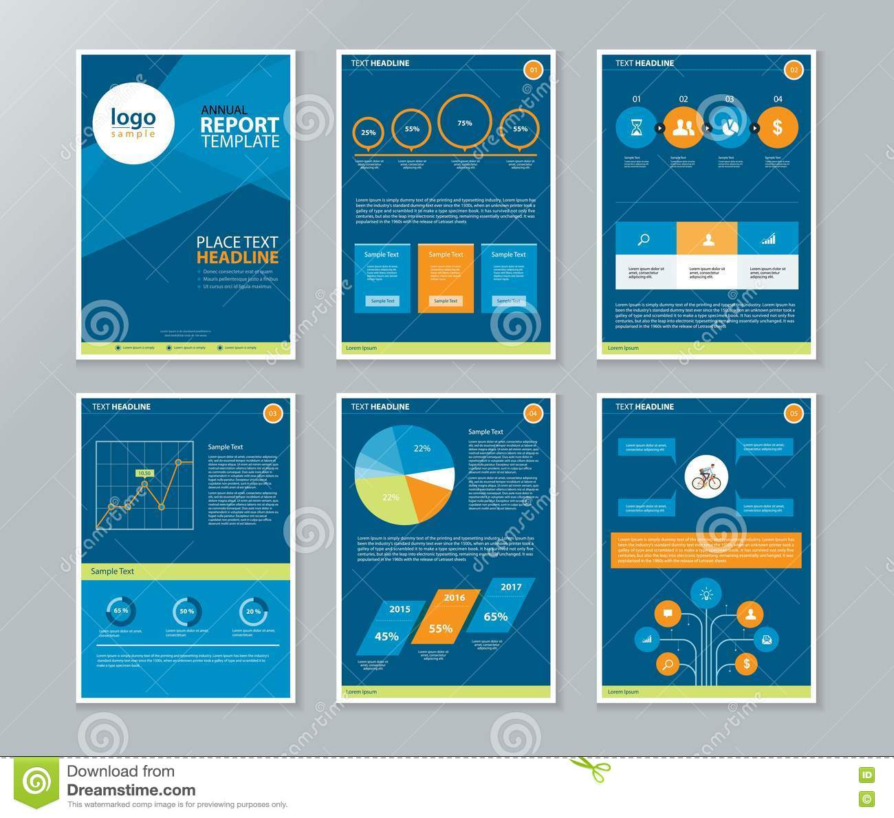 Company Profile annual Report Brochure Flyer Page Layout – Company Profile Template