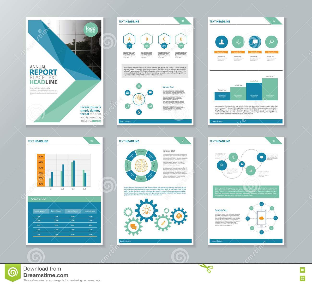 Company Profile Annual Report Brochure Flyer Page Layout