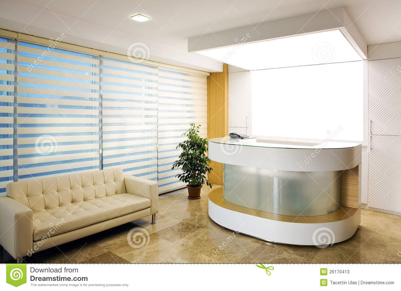 Company Reception Area Stock Image Image Of Business