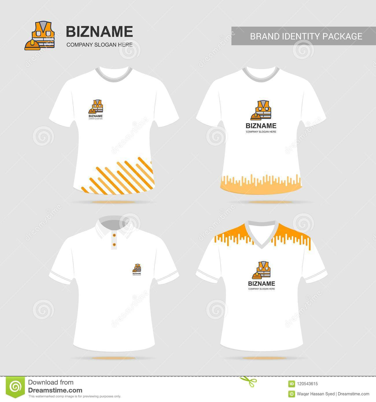 Company T Shirt Design With Logo Vector Stock Vector Illustration Of Shirt Background 120543615