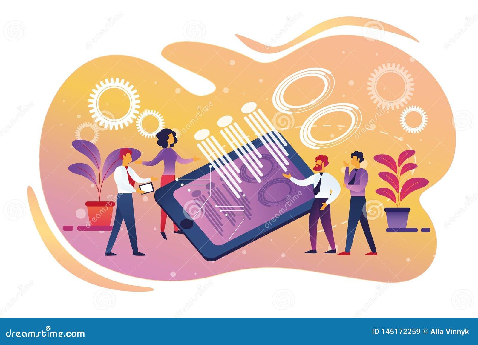 Company Teamwork, Cooperation, Smart Technology