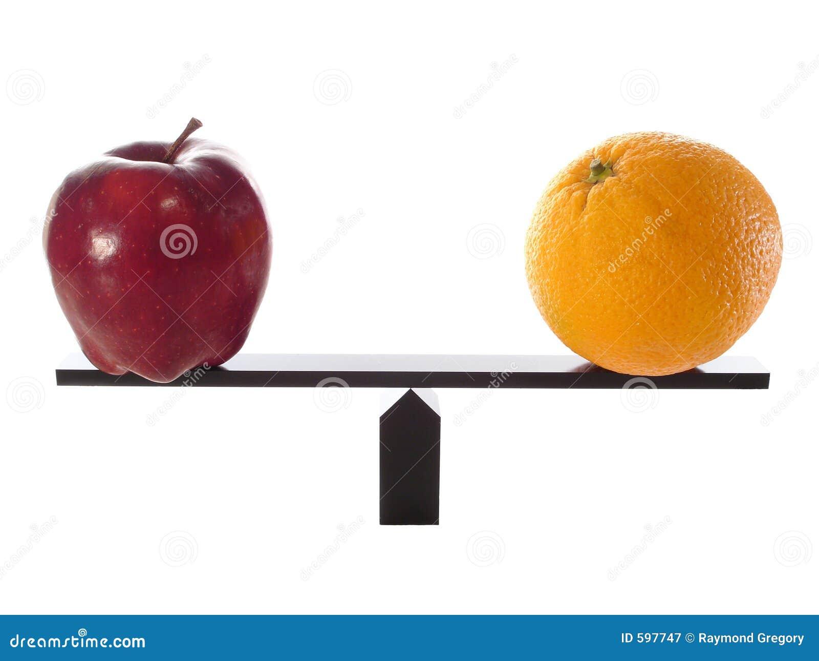 Comparando maçãs às laranjas