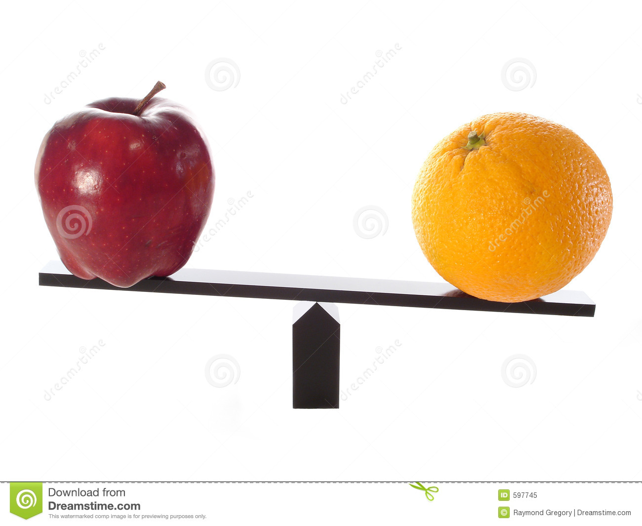 Comparing Apples To Oranges Royalty Free Stock Photo - Image: 597745