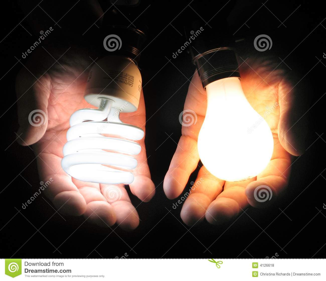 Comparing Fluorescent And Incandescent Light Bulbs