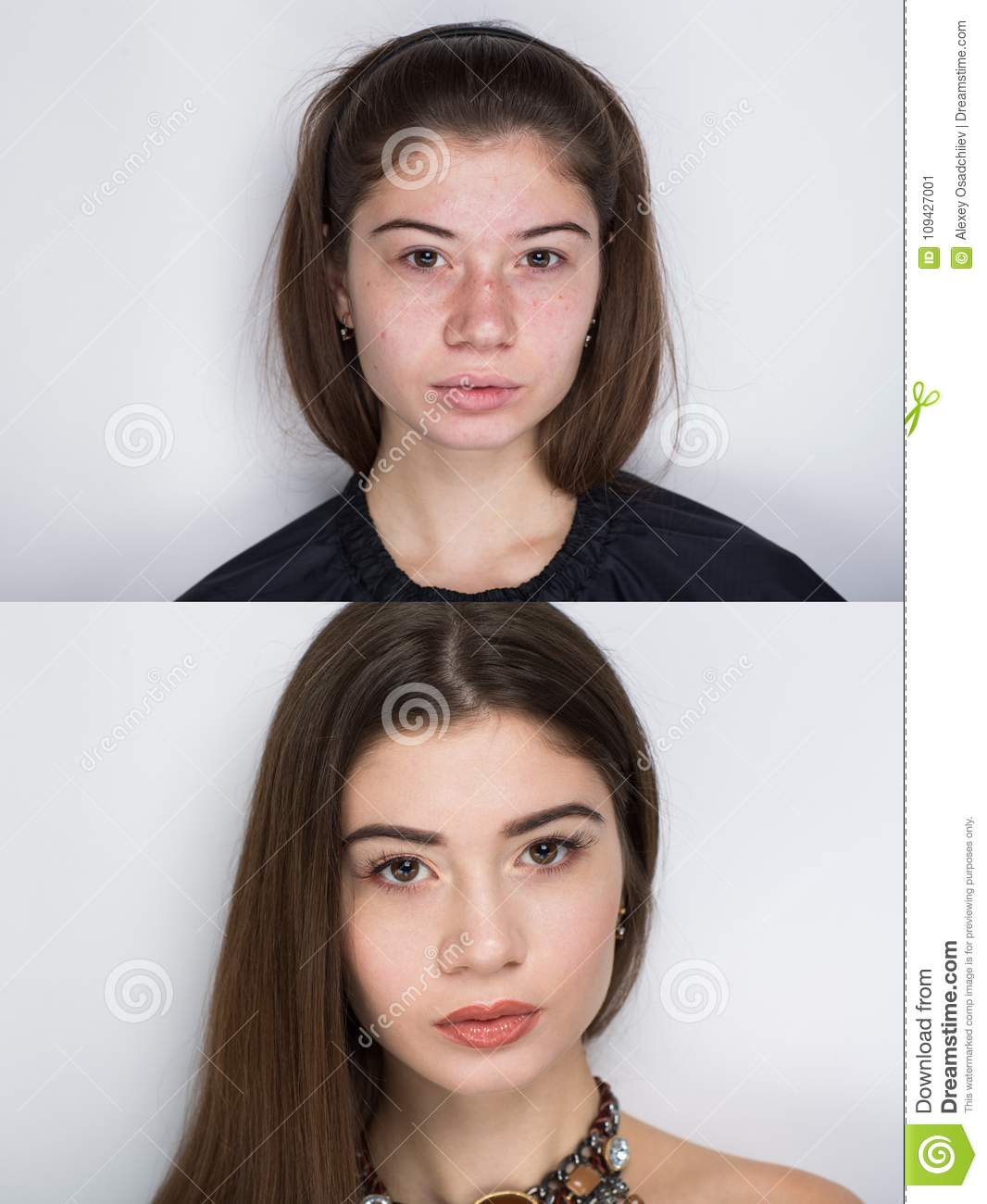 Before After Make Up Stock Image Image Of Makeup -8742