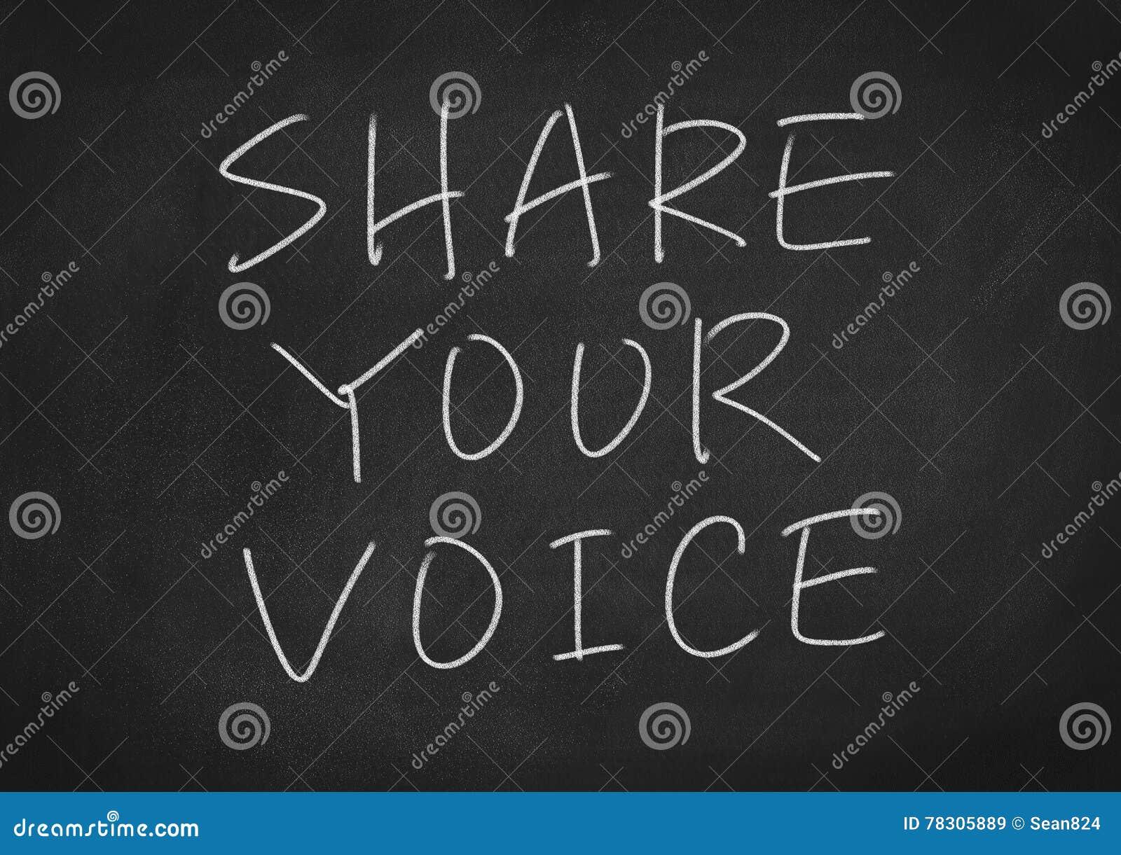 Comparta su voz
