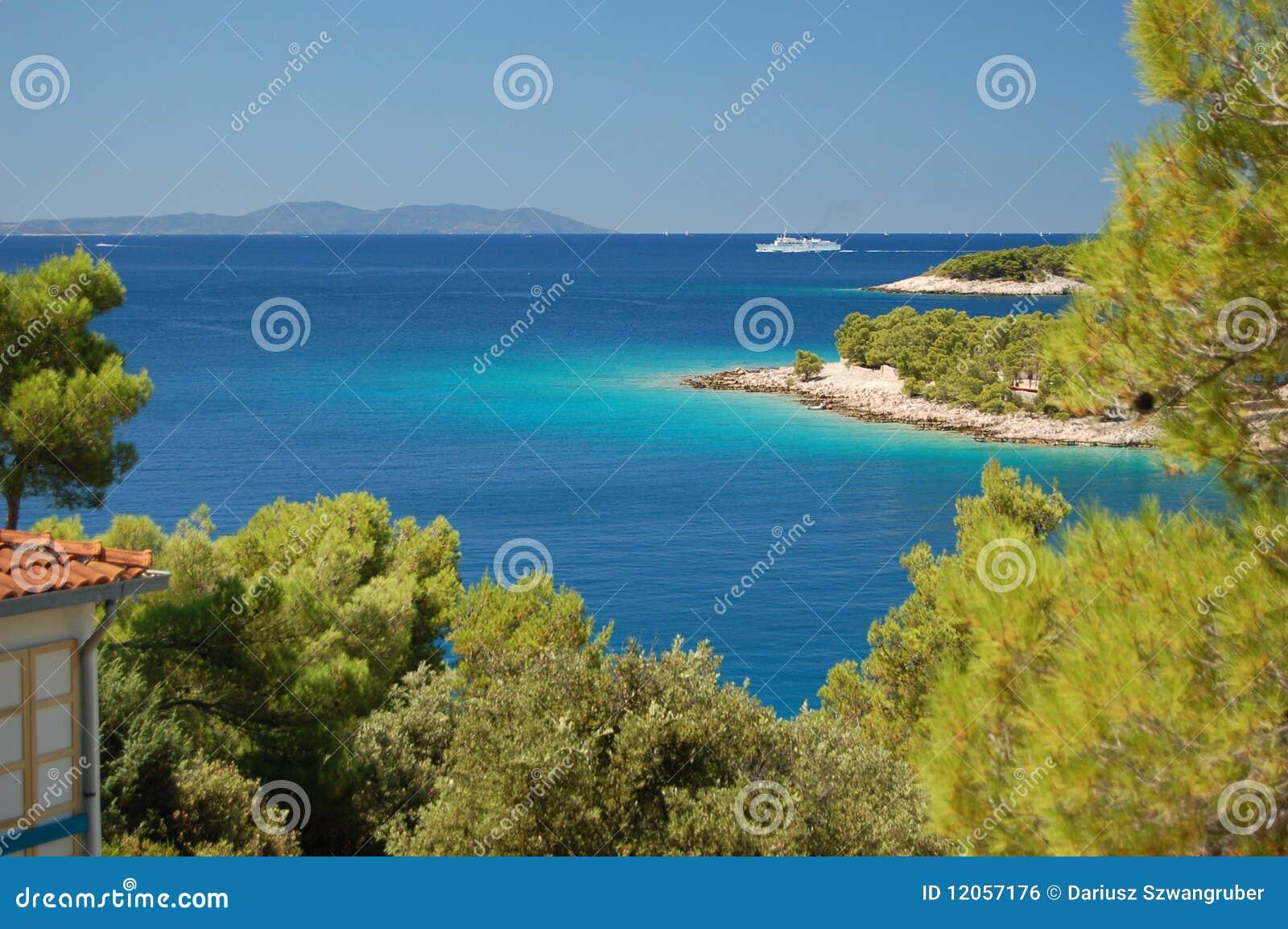 Compartiment tranquille sur l île de Brac