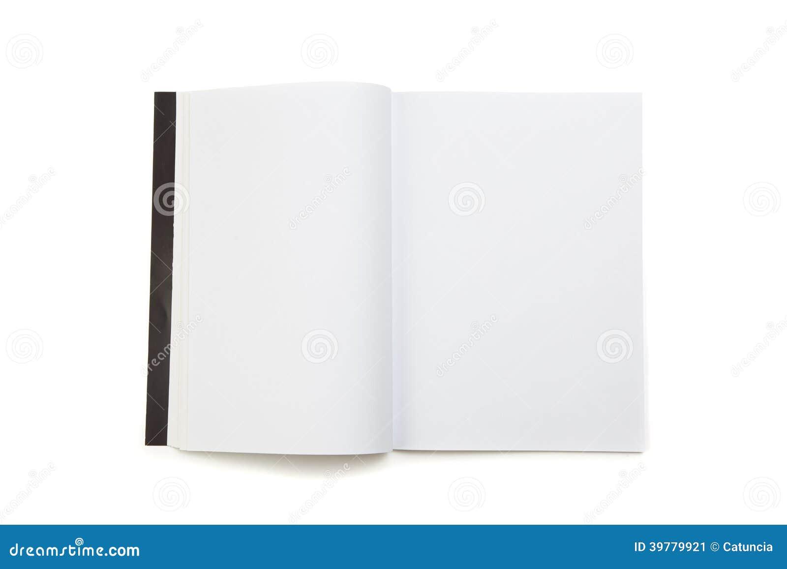 Compartimento vazio da página branca