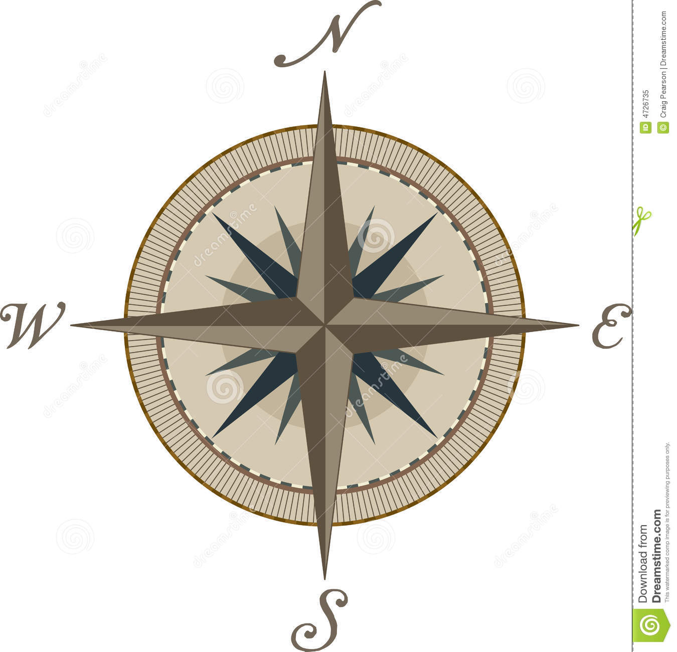 Compass stock vector. Illustration of compass, west ...