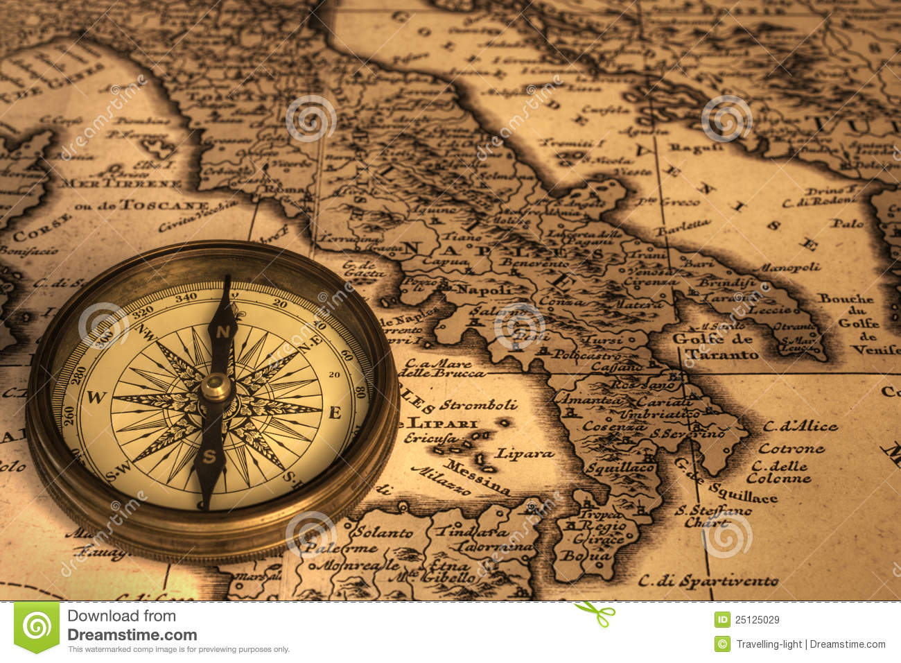 Compass and ancient map of italy stock image image of italy compass and ancient map of italy gumiabroncs Choice Image