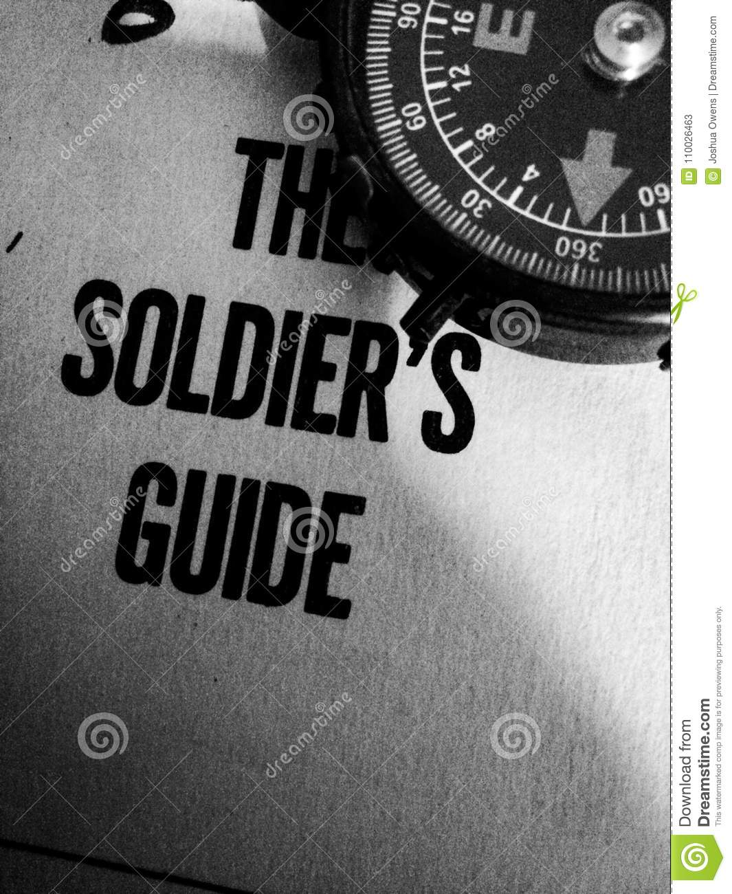 1961 soldiers guide with compass in corner