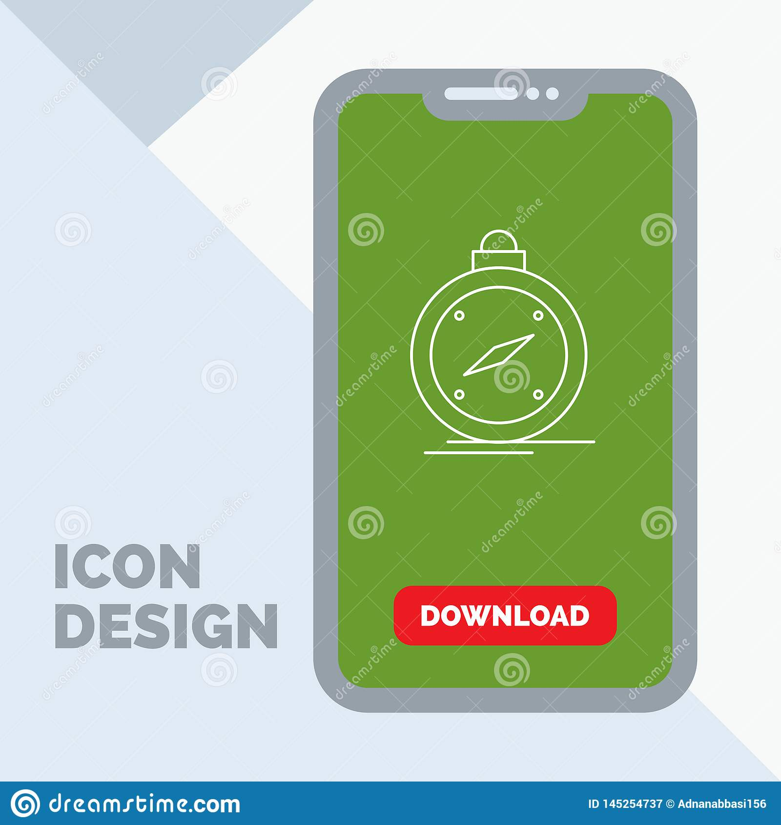 Compass mobile logo icon design royalty free vector image.