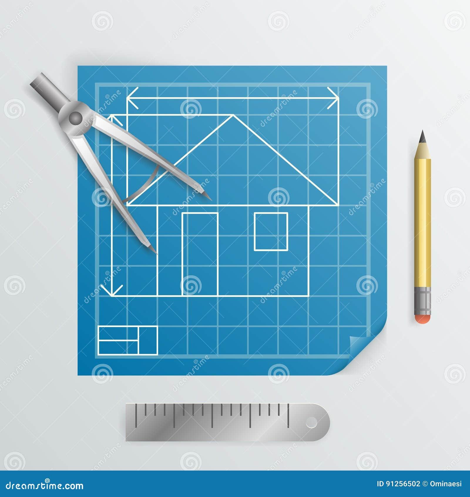 Compass Divider Engineering Planning Symbol Icon Blueprint