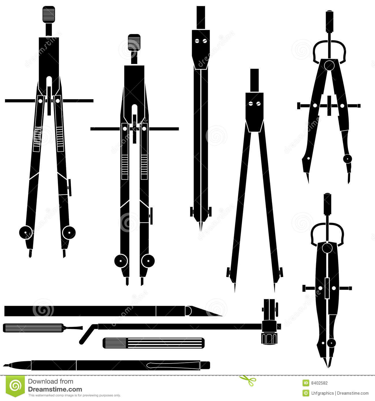 Compass drafting and engineering tools stock photography for Architecture drawing tools