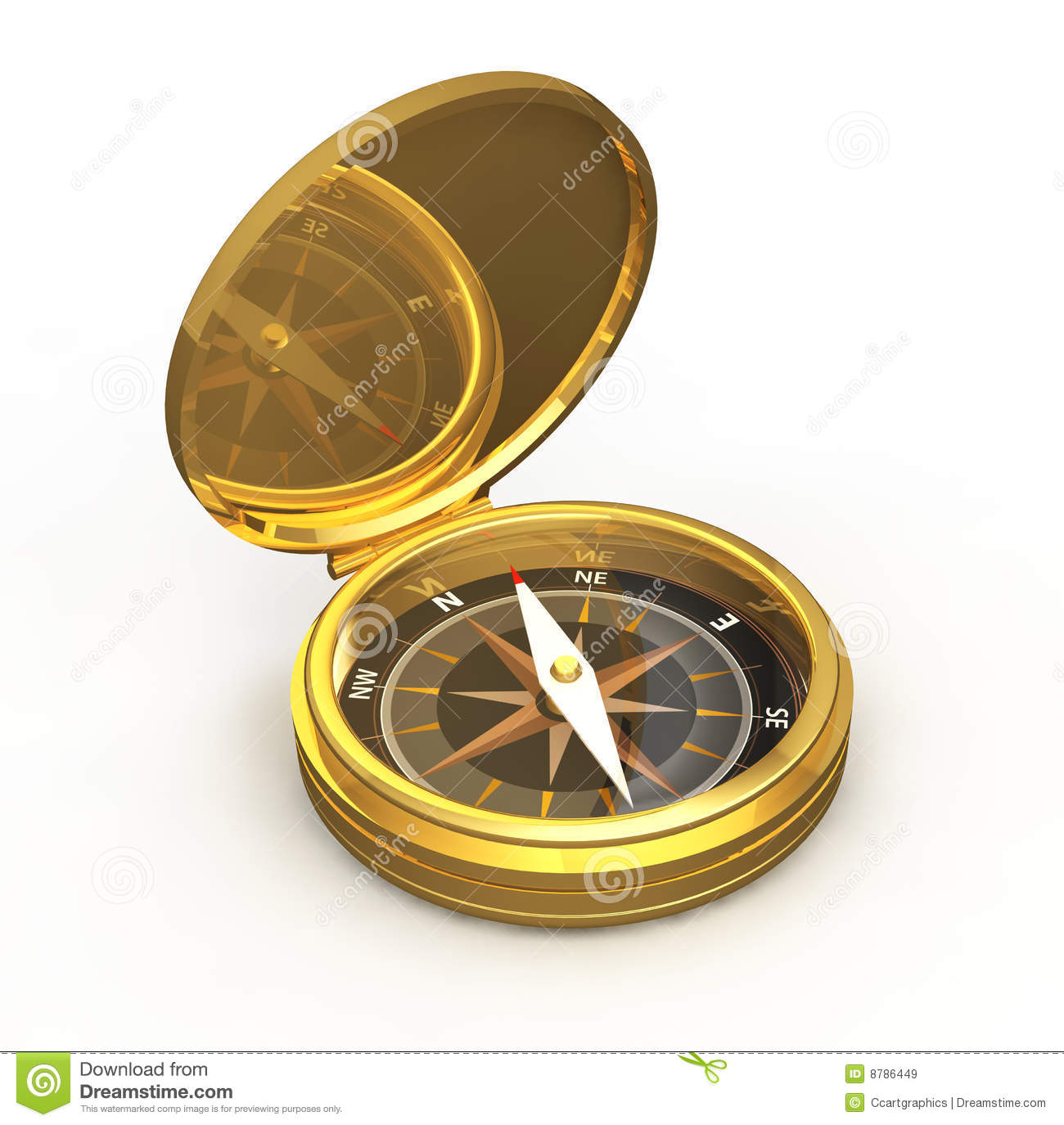 Compass Gold Royalty Free Stock Images - Image: 8786449: dreamstime.com/royalty-free-stock-images-compass-gold-image8786449