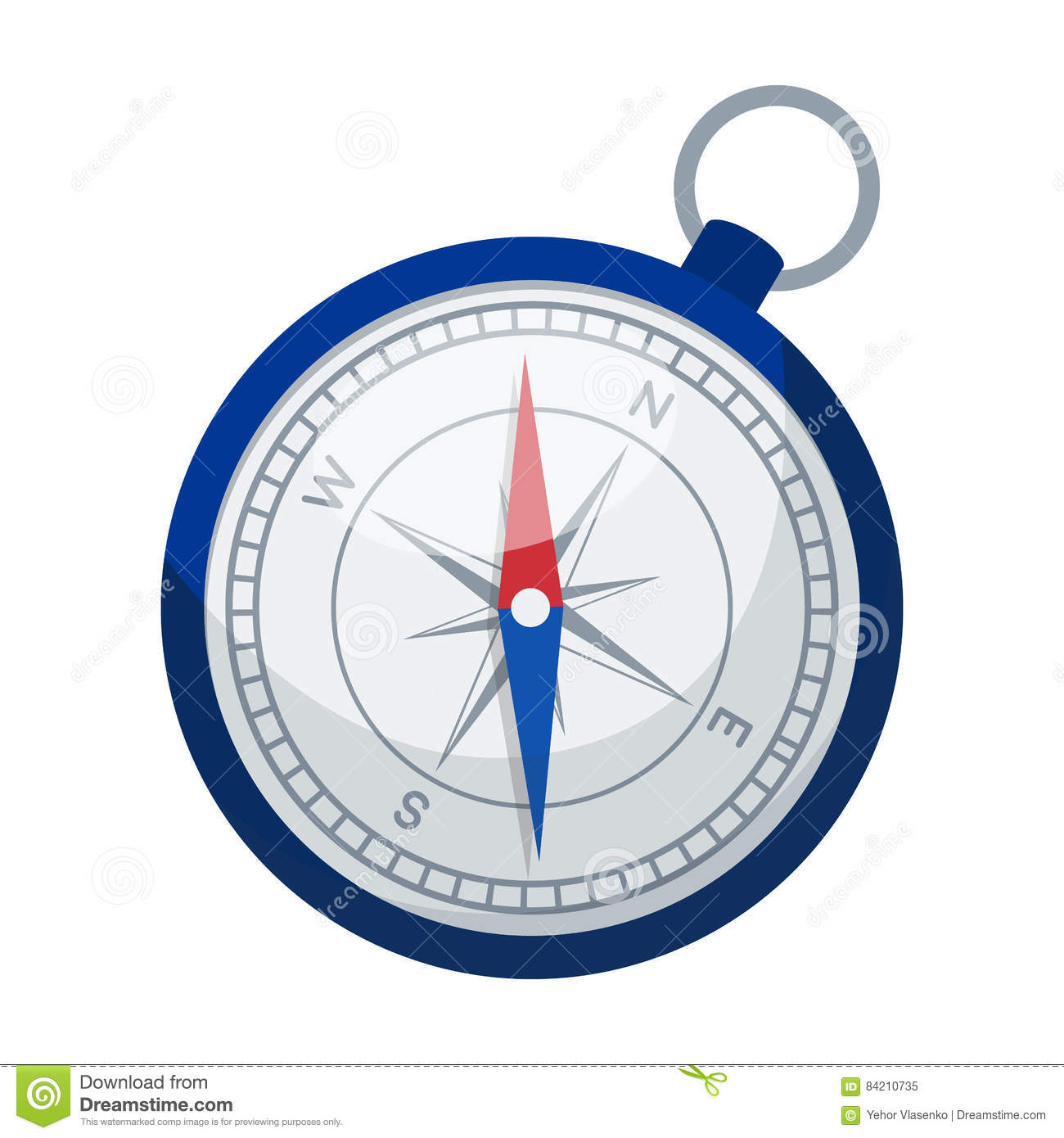 Compass icon in cartoon style isolated on white background. Rest and travel symbol