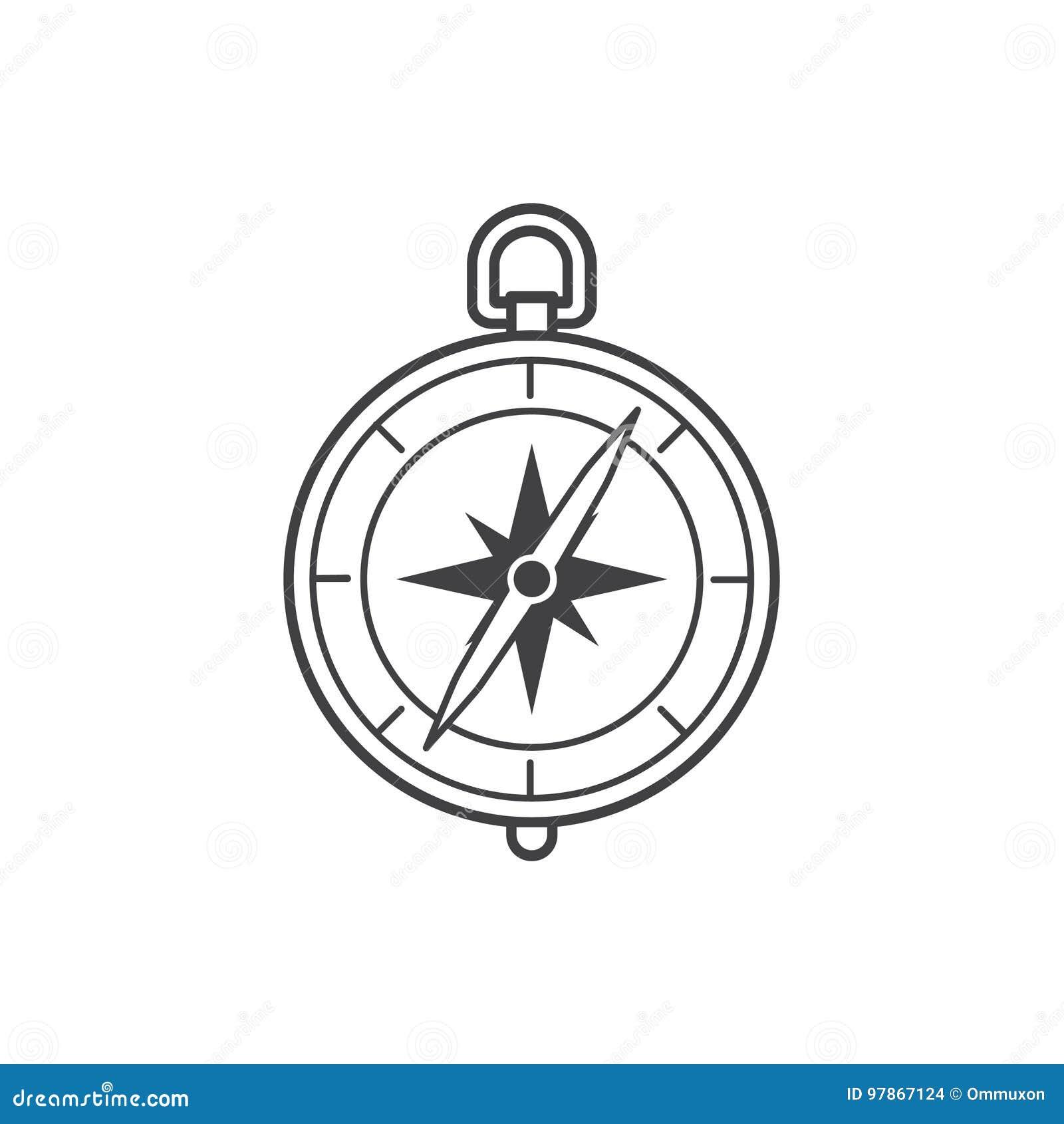 Compass Icon Stock Vector Illustration Of Adventure 97867124