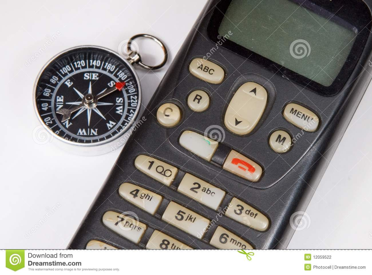compass mobile phone stock photography image 12059522