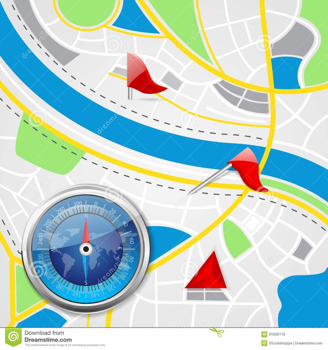 how to put compass on google maps