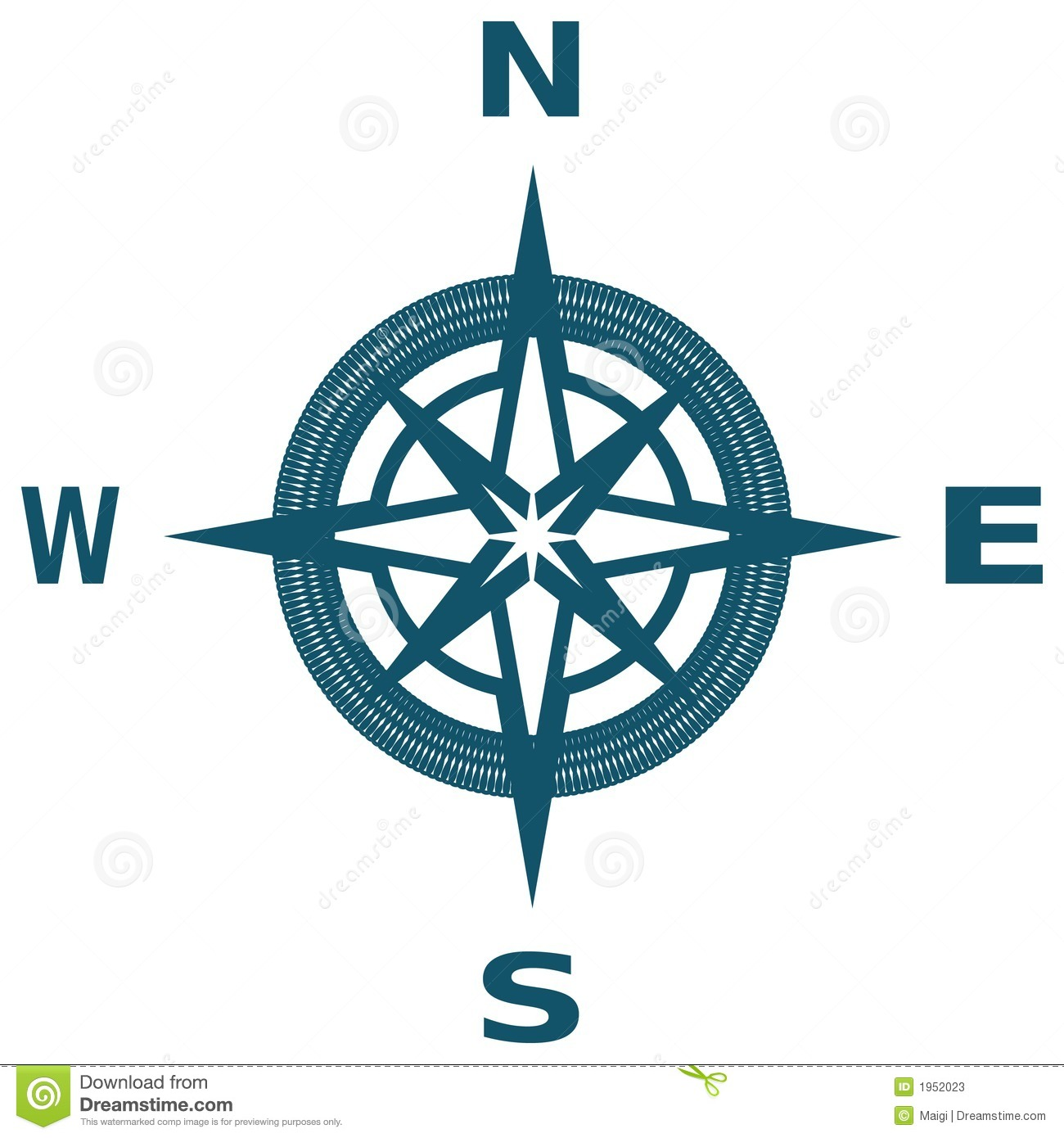 compass rose stock vector