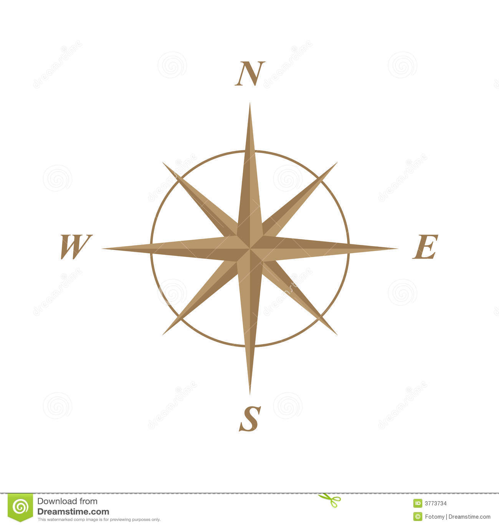 Compass Rose Illustration Stock Vector Illustration Of Illustration