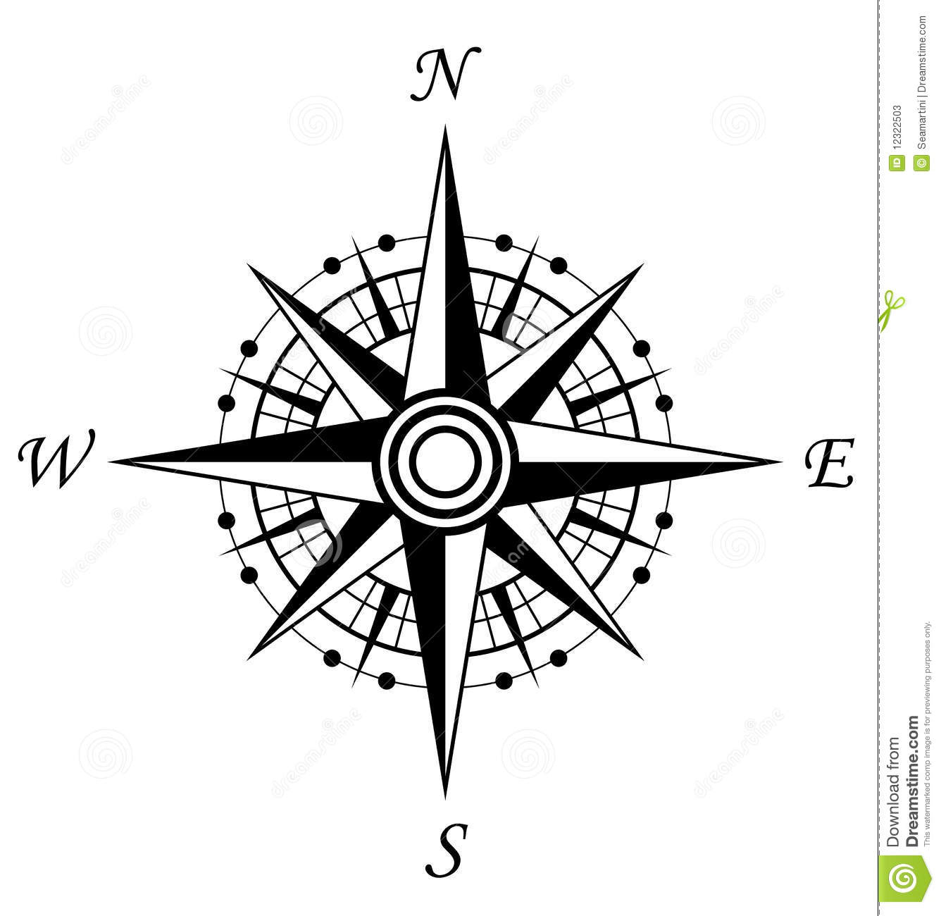 Compass Symbol Stock Vector Illustration Of Geography 12322503