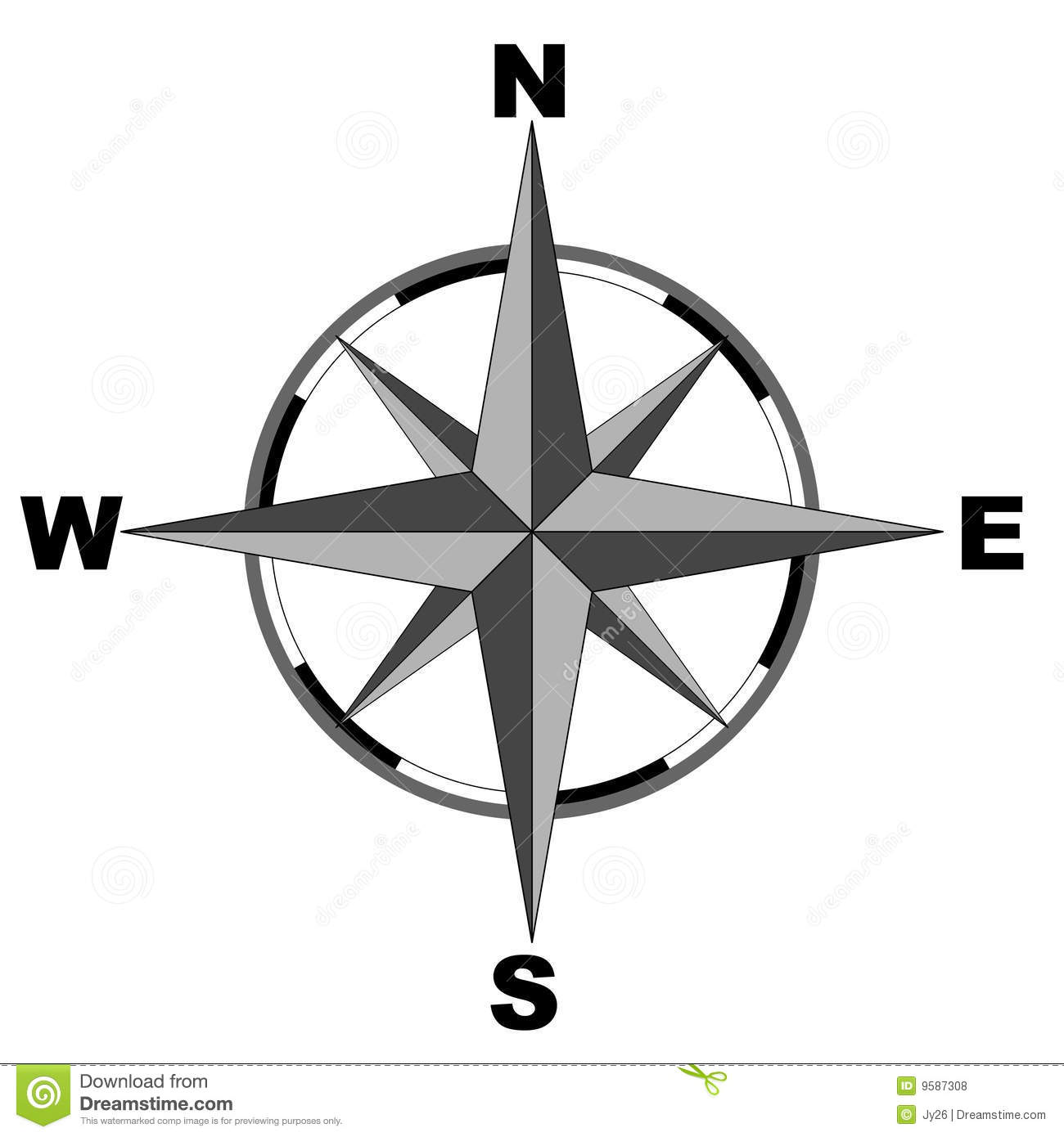 Compass Vector Stock Image Of Longitude Meteorology
